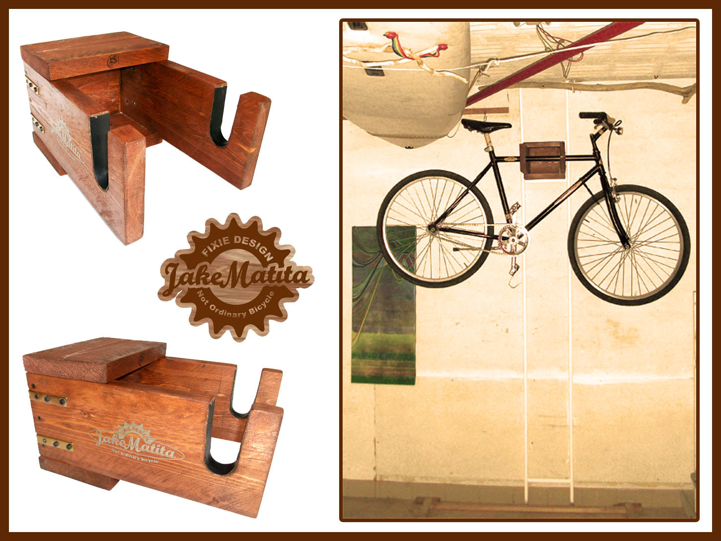 Fixielevate appendi bici salvaspazio jake matita lab - Portabici in legno ...