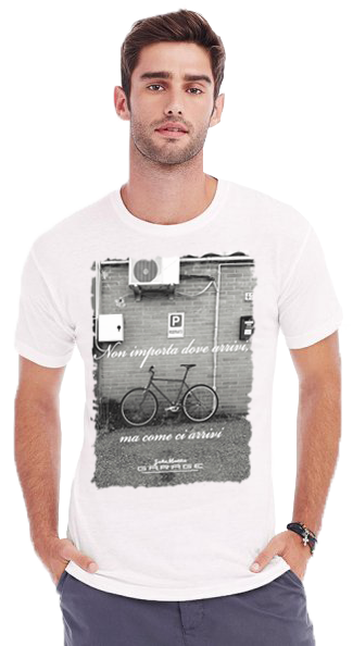 bike to work-model man